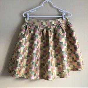 Anthropologie Metallic Shimmer Skirt